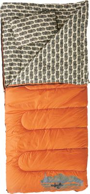 Camp and Hike Coleman's legacy has been supplying nature lovers with quality outdoor products for decades, and this sleeping bag carries that tradition forward. Features ZipPlow zipper to prevent snags and Roll Control for easy, even rolling and packing. Made for sleeping under the stars on mild summer nights, yet able to keep you comfortable down to 20 F. Pleasingly soft cotton flannel lining with a lightweight, yet durable polyester shell and Coletherm insulation in between. Pillow included. Machine washable. Imported. Color: Orange with Tan printed lining. - $59.88