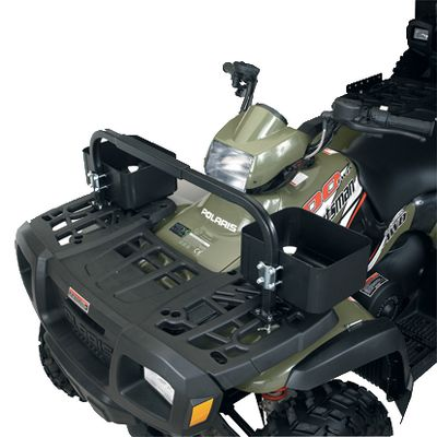 Increase the storage capacity of your ATV with this utility rack. Its unique design doesnt take up existing rack space and is fully adjustable to fit any model rack. Equapress Compression Plate provides a secure hold. The crossbar is the ideal location for mounting Fin Grip systems to carry guns, bows and other equipment. - $12.88