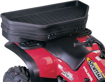 Constructed of rugged and durable high-density polyethylene with UV stabilizers added to prevent fading and cracking, this case fits a bow with quiver. Pre-cut foam protects your bow inside, plus it features a handy storage basket on top. A custom rubber seal with metal liner is watertight. Molded hinges and latches have noncorrosive hardware and rivets. Mounting hardware supplied. Fits most front and rear racks. Remove foam to use case as a cargo box in the offseason. Interior width: 43. - $68.88