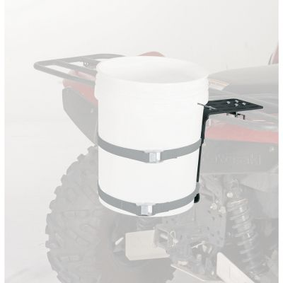 Fishing Use any 5-gallon bucket to stow everything from ice-fishing gear to hunting equipment on your ATV rack. Rugged powder-coated steel bracket bolts securely and solidly supports the bucket from below. EZ-Mount system quickly mounts to any ATV rack. Includes all installation hardware. Bucket and straps not included. - $34.99