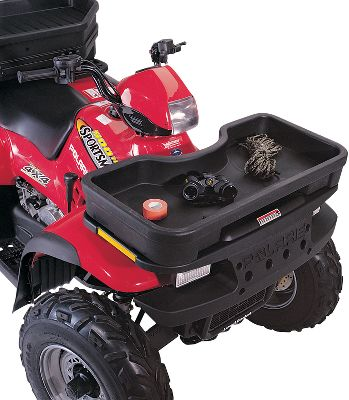 Constructed of high-density polyethylene, this universal ATV front basket is UV-, fade- and crack-resistant. It sports 1,540 cu. in of storage space and double-wall construction that withstands rugged use. Strategically placed drain holes keep your gear from sitting in water. Mounting hardware included. - $37.88