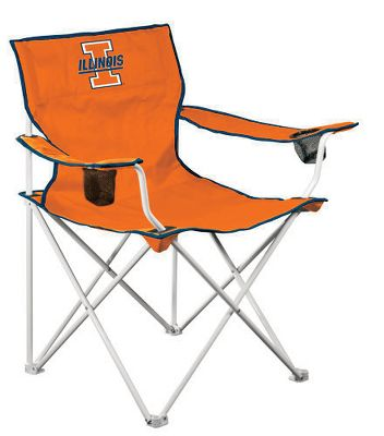 Camp and Hike This tailgate chair has gone deluxe. The seating area is a generous 23.5 x 23.5 and is wrapped in a double layer of rugged 600-denier canvas for comfort and stability. The white-powder-coated steel frame holds up to 275 lbs. and sets up easily. Team logos appear on the front, back and on the included carry bag. Each chair arm is adjustable and features a cup holder. Theres also a mesh pocket on the chair back for convenient storage. Imported. Available: Arizona, Illinois, Kansas, Kansas State, LSU, Michigan, Missouri, Nebraska, Ohio State, Penn State, Texas, West Virginia, Wisconsin, Notre Dame, Purdue, Auburn, USC, Wake Forest, Duke, Clemson, Alabama, Florida, Georgia, Iowa, Kentucky, Mississippi State, North Carolina, Oregon, South Carolina, Tennessee, Washington, Miami Fl., Michigan State, Appalachian State, Cincinnati, East Carolina, Louisville, Ole Miss, Oregon State, Texas Tech, UCLA, Virginia Tech, Georgia Tech, Virginia, Central Florida, Memphis, South Florida, Southern Miss. - $39.99