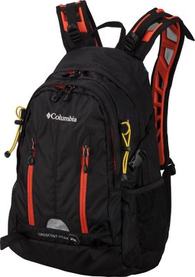 Camp and Hike A high-performance, all-weather pack thats equally at home on the hiking trail or school campus. Its extremely durable, crafted of 210-denier nylon spike ripstop, stretch-woven 600-denier junior ballistic polyester and 420-denier nylon oxford. Omni-Shield advanced repellency sheds moisture, spills and stains. Adjustable Techlite L.O.A.D. straps are specially engineered for stable, padded load distribution and air circulation resulting in optimal comfort. The sternum strap is outfitted with a rescue/emergency whistle. A Backdraft ventilated back panel allows hot air to escape and fresh air to enter so your back stays comfortably dry. An integrated pack rain fly can be deployed to protect pack contents in heavy showers. 3-liter hydration compatible. Imported.Dimensions: 18.5H x 12W x 7D.Capacity: 1,404 cu. in.Weight: 1 lb. 3 oz.Colors: Black, Compass Blue. - $59.88