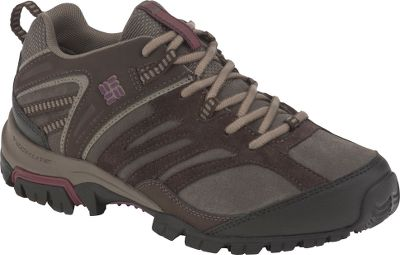 Enjoy the lightweight comfort of trail shoes with the boot-like support and abrasion resistance to take on all kinds of terrain. Durable leather and textile uppers backed by the waterproof, breathable protection of Omni-Tech membranes keep feet dry. Contoured footbeds, Techlite under-foot cushioning and de-coupled heels all work together to absorb shock and enhance support and fit. Omni-Grip outsoles with independent lugged traction system enhance grip at the heel and forefoot pods for stability over slick rocks, slippery roots and uneven surfaces. Imported.Women's sizes: 6-10 medium width. Half sizes to 10.Color: Bungee Cord/Plum. - $39.88