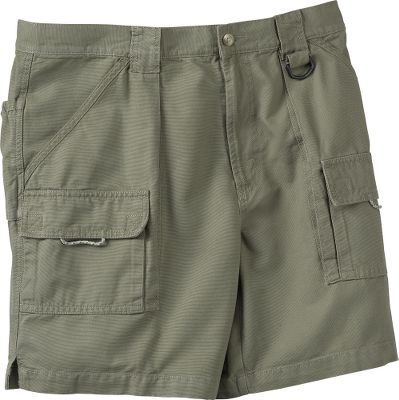 Designed for serious fishermen, these shorts offer angler-driven features like specialized pockets and Omni-Shade with a UPF rating of 50. 100% cotton fabric is cool and comfortable. They have two slant pockets and two hook-and-loop pockets. Zippered security pocket for your valuables. Elastic waistband for a custom fit. Imported.Inseam: 7-1/2.Sizes: S-2XL.Colors: Carbon, Mud, Stone, Sage. Waist: Small. Type: Shorts. Size: Small. Inseam: Sage. Size Small. Color Sage. - $40.00