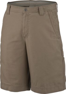 Durable 100% cotton canvas keeps up with whatever you throw its way. Enzyme-sandwashed for softness. Plenty of pockets, including two front pockets, a cell-phone-sized right-thigh pocket and two rear pockets, accommodate your belongings. Omni-Shield advanced repellency wards off moisture. Omni-Shade UPF rating of 50. Imported. Inseam: 9. Even waist sizes: 32-44. Colors: Fossil, Alpine Tundra, Flax, Glare, Surplus Green, Abyss. Size: 32. Color: Abyss. Gender: Male. Age Group: Adult. Material: Canvas. Type: Shorts. - $21.99