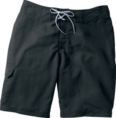 "In the heat of the summer, you'll appreciate these lightweight shorts. Quick-drying polyester is perfect for adventures around the water. Omni-Shade UPF rating of 30. Security pocket. 100% polyester. Imported. Inseam: 11"". Even waist sizes: 30-44. Colors: Blues, Cool Grey, Grasshopper, Black (not shown), Gypsy (not shown). - $19.95"