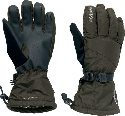 Winterproof gloves for snow-sport enthusiasts. Omni-Tech waterproof, breathable linings keep the interior dry. A layer of 80-gram polyester insulation seals in warmth. Elastic wrists seal out the elements. Polyurethane palms enhance grip. Zip-entry cuffs for easy on and off. One-hand shock cord hem adjustment. Nose wipe on thumbs. Webbing strap adjustment. Nylon shells with polyester fleece linings. Imported. Sizes: S-XL.Colors: Black, Ranger. - $29.88
