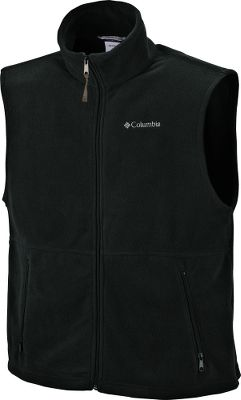 Camp and Hike The Columbia Cathedral Peak Vest can be worn as a midlayer or for core warmth during a hiking trip. Thick, soft MTR Fleece traps body heat. Full-zip front with convertible stand-up collar. Imported. Sizes: S-2XL. Colors: Columbia Navy, Charcoal Heather, Tusk, Black, Gremlin. - $19.88