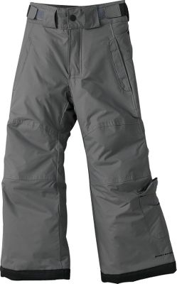"Waterproof Omni-Shield advanced repellency blocks out winter weather. Adjustable waist and grow cuffs add sizing versatility. Internal leg gaiters keep out snow. Reinforced cuff guards and knees. Nylon shell. Nylon 210T taffeta lining. Polyester insulation. Imported. Preschool sizes: 4/5, 6/7. Inseam: 18"". Colors: Black, Charcoal. - $24.88"
