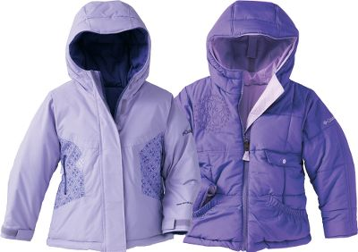 Enjoy double-duty and twice the wear from this reversible, snow-repelling jacket. Waterproof Omni-Shield advanced repellency bolsters 100% nylon and 100% polyester shells for dual charm and function. 240-gram polyester insulation for extra warmth. Attached, adjustable storm hood wards off cold and wind. Handy, practical security pocket. Imported. Sizes: 7/8, 10/12, 14/16, 18/20.Colors: Abalone, Skybox. - $39.99