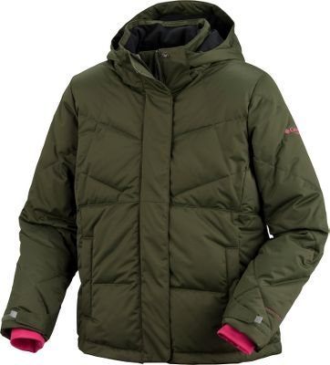 Hunting Your little gal will enjoy looking cool while she stays warm and dry this winter. 100% polyester sateen shell features Omni-Shield advanced water repellency and Omni-Heat thermal reflectivity to retain warmth. 550-fill-power 80/20 duck down/feather insulation. Removable adjustable hood. Adjustable snap-back powder skirt. Adjustable outer cuffs and inner comfort cuffs. Interior security pocket. Goggle pocket. Imported. Sizes: 7/8, 10/12, 14/16, 18/20.Colors: Bright Rose, Heliotrope, Surplus Green. Type: Jackets. Size: 7/8. Size 7/8. Color Heliotrope. - $79.88