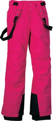 Made of nylon Kolon twill, these Omni-Tech enhanced pants are breathable, critically seam-sealed and entirely waterproof. Nylon taffeta lining with warming 100-gram polyester insulation. Reinforced cuff guards keep snow out, and internal leg gaiters offer easy on and off. Removable suspenders. Zip-close pockets. Imported. Sizes: 7/8, 10/12, 14/16, 18/20. Colors: Black, Surplus Green, Bright Rose. Type: Pants. Size: 10/12. Size 10/12. Color Black. - $39.88