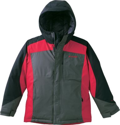 Guns and Military Insulated and water-resistant, this winter-worthy jacket is ready for your little boy's cold-weather adventures. Nylon Hydra Cloth shell is backed by 170-gram polyester insulation that seals cold air out and warmth within. Comfortable nylon lining slides on easily over other layers. Omni-Shield resists snow, rain and stains, keeping him dry and dirt-free. Zip-closed pockets. Media pocket. Imported.Sizes: 4/5, 6/7Colors: Grill, Adriatic Plaid, Columbia Navy Plaid, Compass Blue. - $39.88