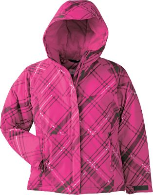 Ski Winter fun without worry is in the cards when your little girl is wearing this fashionable jacket. Insulated with 240-gram high-loft polyester for lightweight warmth. Nylon Hydra Cloth shell sheds snow and stains thanks to Omni-Shield advanced repellency. Attached, adjustable storm hood. Interior security pocket. Imported.Sizes: 4/5, 6/6X.Color: Pink Taffy Print. - $34.88