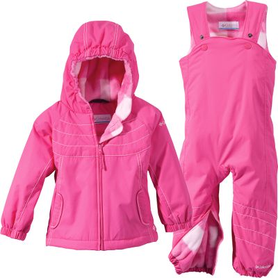 you're never too young to enjoy a snow day, so slip your little princess into this toasty parka and bibs when you head for the nearest sledding hill. Comfortable nylon dobby shell is fully waterproof and features Omni-Shield to keep snow and stains from ruining the day. Lightweight, warm polyester insulation. Attached storm hood is adjustable. Imported.Sizes: 6 mo., 12 mo., 18 mo., 24 mo.Colors: Light Turquoise, Iris Glow, Pink Taffy. - $49.88