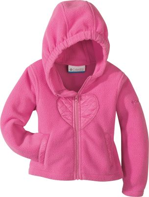 Let your infant's first memories of winter be fond and cuddly. Snuggle-soft 100% polyester fleece has a wind- and water-resistant overlay. Elastic cuffs keep out drafts. Full-length zipper. Attached hood. Imported. Sizes: 6 mo., 12 mo., 18 mo., 24 mo. Colors: Aqua, Heliotrope, Pink Taffy. - $12.88