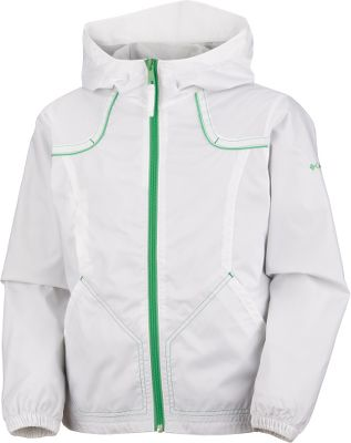 Its water- and wind-resistant 100% nylon shell features Wind Halt for all-weather protection. Recycled polyester and mesh liner provides ventilated comfort for high-movement activities. Full center-zip front. Zippered chest pocket. Two handwarmer pockets. Attached, adjustable storm hood. Imported.Sizes: 7/8, 10/12, 14/16, 18/20.Colors: Raspberry Sorbet, Bright Bluet, Clematis Blue, Bright Rose, Crown Jewel, White. - $19.88