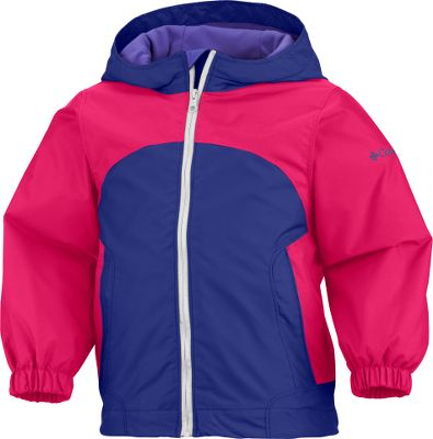 Cozy soft protection from chilly winds for your toddler. The shell is 100% nylon Wind Halt fabric that blocks cold breezes. Plush 100% polyester super-light microfleece lining wraps your child in cozy comfort. Moisture-wicking Omni-Wick lining enhances comfort. Attached adjustable storm hood. Imported.Sizes: 2T, 3T, 4T.Colors: Clematis Blue, Crown Jewel, Pink Taffy. - $19.99