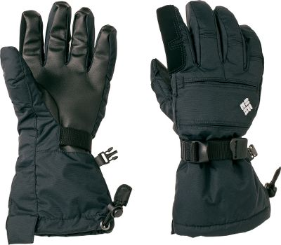 Defend young hands from winter's worst with waterproof, breathable, insulated gloves. 100% nylon shells with polyester linings and 80-gram 50/50 polyester/recycled polyester insulation. Polyurethane palm grips. Thumb nose wipes. One-hand shock-cord hem adjustments. Imported. Sizes: XS-L.Colors: Black, Very Pink. - $34.88
