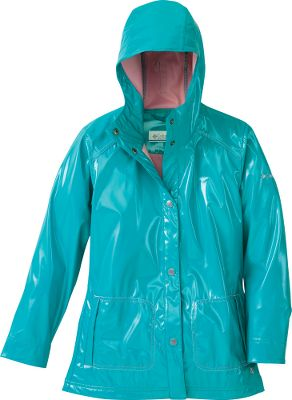 This 100% polyester rain slicker features waterproof Omni-Shield advanced repellency to keep your little one comfortable and dry. Underarm venting accommodates their high-movement activities. Button-down front. Two front pockets. Roll-down cuffs. Attached, adjustable storm hood. Imported.Sizes: 4/5, 6/6X.Colors: Lake Blue, Dandelion. - $24.88