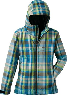 Fully seam-sealed, plaid-patterned 100% polyester jacket boasts waterproof Omni-Tech over a polyester Ultra Wick mesh lining for breathable, wet-weather protection. Omni-Wick moisture-wicking technology keeps you comfortable and dry. Attached, adjustable storm hood blocks out cold winds. Adjustable cuffs and a drop-tail hem add extra protection against the elements. Zippered security pockets. Imported. Sizes: XS-XL.Color: Compass Blue Plaid. - $54.88
