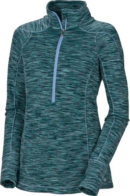 A warm and flattering 1/2-zip top that offers cozy style and Omni-Shield water resistance. The stand-up collar shields your neck from chilly winds. Thumbholes keep the sleeves from riding up. A 1/2-length front zipper gives you precise ventilation control and allows the top to be worn partially unzipped over a base layer. Constructed of 100% polyester Spacedye fleece. Machine washable. Imported. Sizes: S-XL. Colors: Adriatic Multi, Black Multi. Size: MEDIUM. Color: Black Multi. Gender: Female. Age Group: Adult. Material: Fleece. Type: Long-Sleeve Shirts. - $49.88