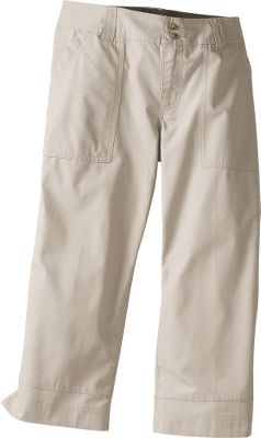 Hunting Cool and relaxed capris made to order for warm days. Omni-Shade fabric has a UPF rating of 15 for sun protection. Sits just below the waist. Relaxed fit. 100% cotton canvas duck. Imported.Sizes: 4-16.Color: Fossil. - $14.88