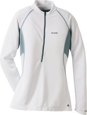 Four-way comfort stretch polyester double knit for a flattering fit. Omni-Shade UPF rating of 50 for protection from the sun. Contoured collar with 1/2-zip front. This garment features Bug Shield construction with Insect Blocker effective, built-in, invisible protection against a variety of biting bugs. Its odorless and integrated into clothing, eliminating the need for spray or lotion. Insect Blocker is EPA-registered without restriction, so everyone can use it, including kids and women who are pregnant or nursing. Imported. Center back length: 26. Sizes: S-XL. Colors: Chartreuse, Wind, White. Size: X-Large. Color: White. Gender: Female. Age Group: Adult. Material: Knit. Type: Long-Sleeve Shirts. - $49.88