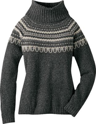 Chic and cozy, this sweater is ideal for dinner out after a day on the slopes. Nubby boucle texture. 47% acrylic, 31% cotton, 22% polyester. Imported. Sizes: S-XL.Colors: Barn Red, Natural, Black, Night Shade. - $19.88