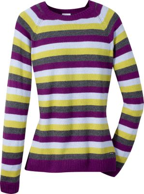 Nothing makes a stylish statement quite like stripes! 60% cotton, 30% nylon, 10% angora. Imported.Back length: 25.Sizes: S-XL.Colors: Black, Surplus Green, Plum, Elderberry. - $19.88