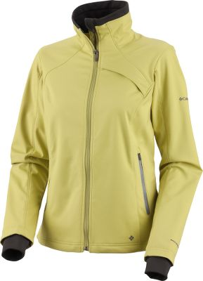 Windproof warmth and two-way comfort-stretch performance in a sleek, slimming soft shell. The durable, 100% polyester Caliber 3L soft shell also repels winter moisture with an Omni-Shield finish. Raglan sleeves for nonbinding freedom of movement. Princess seams for a feminine profile. Drawcord-adjustable hem. Zippered chest and handwarmer pockets. Self-adjusting comfort cuffs with thumbholes. Imported.Columbia sizes: S-3XL, 1X-3X.Colors: Black, Sea Salt, Imperial, Leapfrog. - $49.88