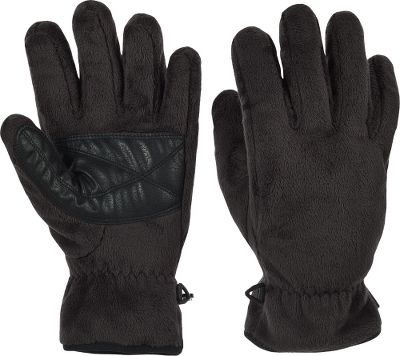 Soft, plush pile fleece wraps your fingers in warmth. Polyurethane palm patches ensure a good grip. 100% polyester. Imported. Sizes: S-XL. Colors: Coal, Leapfrog. - $12.88