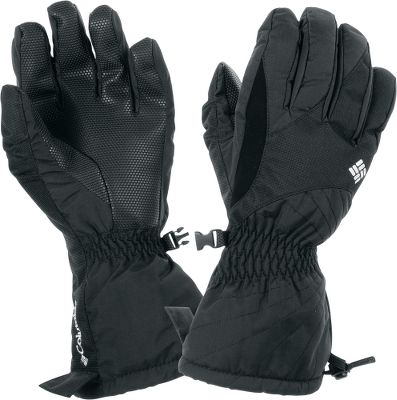 Great-looking gloves that will keep your hands and fingers warm and dry during outdoor winter fun. Warmth is assured by Omni-Heat thermal reflective insulation. Omni-Tech waterproof and breathable technology keeps hands dry. Polyurethane-grip palms team with a precision-fit grip to ensure a firm grasp. One-hand shockcord hem adjustment helps keep snow and water out. Nose wipe. 100% nylon. Imported.Sizes: S-XL.Color: Black. - $39.88