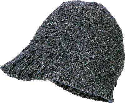 Top off your winter outfits with a warm, full-coverage cap that has a fashionable mini-visor. Soft and warm 100% acrylic yarn. One size fits most. Imported. Colors: Bright Rose, Black. - $12.88