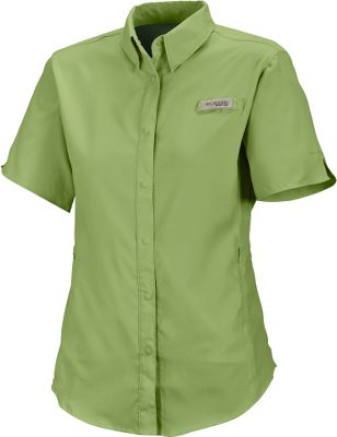 Fishing Columbias lightest-weight Womens PFG Tamiami II Short-Sleeve Shirt offers lasting cool comfort and protection from the sun. Crafted of fast-drying 100% polyester Omni-Wick fabric for advanced evaporation and odor-fighting capability. Mesh-lined vents at the back shoulders keep cooling air circulating to enhance the breathable comfort. Omni-Shade delivers a UPF rating of 40 to protect you from UV rays. Flattering feminine seams give this functional shirt a great look. Notched sleeves enhance mobility. Hidden zippered security pockets along the front seams keep small items within easy reach. Built-in rod holder. Imported. Sizes: S-XL, 1X-2X. Colors: Atoll, Bright Rose, Purple Lotus, Geyser, Sorbet (not shown), White, White Cap, Coral Flame (not shown), Pale Purple, Stormy Blue. Size: X-Large. Color: Stormy Blue. Gender: Female. Age Group: Adult. Material: Polyester. Type: Short-Sleeve Shirts. - $40.00