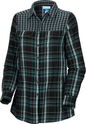 "Enjoy a relaxed fit and extra coverage with this soft 32.5""-long tunic. It's crafted of easy-care 100% cotton and has an interior adjustable waistband so you can customize the fit. Convenient hand pockets. Machine washable. Imported.Sizes: S-XL.Colors: Black Plaid, Sea Salt Gingham. - $19.88"