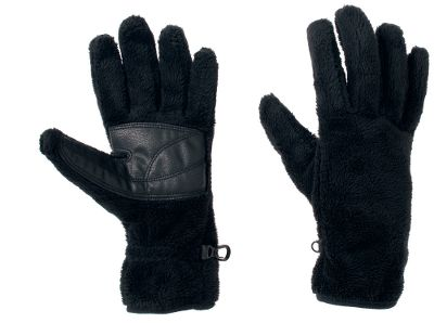 Plush 100% polyester gloves sporting a thick, soft pile thats comfortable and keeps your hands warm. Grip palm patches for increased grasp, and elastic wrists seal out drafts. Imported.Sizes: S-XL.Colors: Black, Sea Salt, Dark Plum. - $19.88