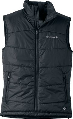 Columbias-exclusive Omni-Heat technology provides a level of warmth superior to ordinary insulations. With its reflective material that redirects body heat inward combined with ultraefficient insulating material, this vest will surround you in perfectly balanced protection from the cold. Treated with Omni-Shield advanced repellency to protect from light moisture and stains. Compatible with any Columbia parka that allows for a zip-in liner or the three-point Interchange System. Drawcord-adjustable hem and zip-close handwarmer pockets. Imported. Sizes: M-2XL. Color: Black. - $54.88