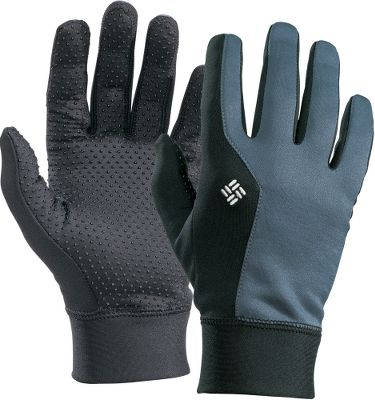 Warm hands are important, but strenuous outdoor activities can result in sweaty palms, and thats not fun. Columbias Omni-Wick technology prevents moisture buildup by wicking perspiration away, spreading it across the fabric surface and allowing it to evaporate. Omni-Heat thermal reflective material redirects your bodys natural warmth back toward your hands. Silicone palm grips. Imported. Sizes: S/M, L/XL. Colors: Black, Mystery. - $40.00