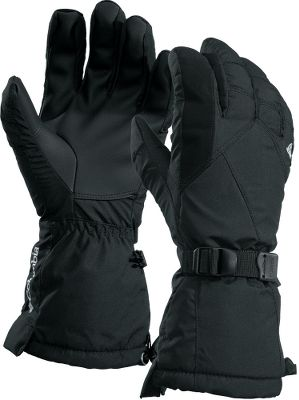 Columbia combined the power of Omni-Heat thermal reflective fabric insulation with waterproof, breathable OutDry technology for gauntlet-style gloves that will ward off any weather. A layer of 80-gram Omni-Heat insulation surrounds your hands in consistent warmth. Polyurethane palms provide a sure grip in any conditions. One-hand shock-cord hem adjustment. Nose wipe on finger. Webbing strap adjustment Imported. Sizes: S-XL.Colors: Black, Black Plaid, Marsh. - $29.88