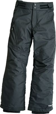 Waterproof, breathable and warm just what a girl wants in snow pants. Outgrown system allows the pants to be adjusted as your daughter grows. Omni-Tech waterproof shell is critically seam sealed and has adjustable waist. Zip-close pockets. Reinforced cuff guards. Nylon shell and lining; 80-gram Slimtech insulation. Imported. Inseam: 23.Sizes: 4/5, 6/6x, 7/8, 10/12, 14/16. Colors: Black, Clear Blue, Light Grape Print. Type: Pants. Size: 4/5. Color: Black. Size 4/5. Color Black. - $49.88