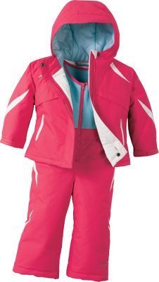 Outfit your little girl to be as comfortable as you in winter weather. The Omni-Tech waterproof, breathable membrane backed by critically seam-sealed construction blocks out rain, sleet and snow. A layer of 150-gram Microtemp insulation throughout helps retain warmth. Jacket has an attached, adjustable storm hood. Bibs have internal leg gaiters to seal out snow. 100% nylon shell and lining. Imported.Sizes: 2T, 3T, 4T.Color: Hyper Purple. Type: Sets. Size: 2T. Color: Hyper Purple. Size 2t. Color Hyper Purple. - $79.88