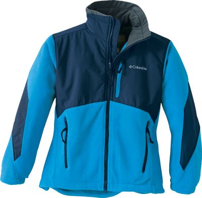 Provides big-time warmth, comfortable softness and its nylon Omni-Shield overlay delivers the water and wind resistance to take on damp, wind-swept days. Shell is crafted of super-soft MTR Fleece for maximum thermal retention. Three-point interchange system. Zip-close pockets. Imported. Sizes: 4/5, 6/7, 8, 10/12, 14/16.Colors: Mystery, Elm, Compass Blue, Yellow Curry. - $24.99