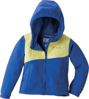 Crafted of Microtex Lite and super-soft 250-gram fleece, this hooded jacket boasts a wind- and water-resistant overlay for full protection during wet and chilly days. 100% polyester. Imported. Sizes: 2T, 3T, 4T.Colors: Clear Blue, Light Grape, Afterglow. - $29.95