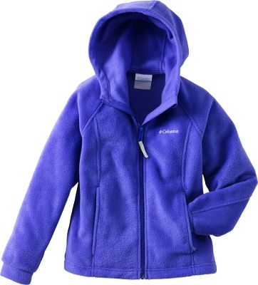 Soft, cozy fleece keeps her warm when the weather turns bad. Zippered handwarmer pockets. 100% polyester. Imported.Sizes: 6 mo., 12 mo., 18 mo., 24 mo.Colors: Fuse Green, Clear Blue, Light Grape, Afterglow (not shown). - $18.88