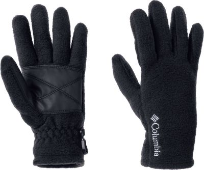 Camp and Hike Crafted of 250-gram MTR Fleece, a soft and cozy fabric known for maximum thermal retention. Faux-leather palms lend extra winter protection. Security clips and elastic at wrists. 100% polyester. Imported. Sizes: XS-L. Colors: Black, Collegiate Navy, Light Grape, Afterglow. Type: Gloves. Size: Large. Color: Light Grape. Size Large. Color Light Grape. - $14.88