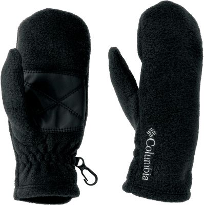 Perfect for snowball packing, these mittens are crafted of 250-gram MTR filament fleece for maximum thermal retention. Faux-leather palms deliver an extra layer of protection. Elastic at wrists seals snow out. Security clips. 100% polyester. Imported. Sizes: XS-L. Colors: Black, Light Grape Lumberjack, Afterglow. Size: Medium. Color: Black. Gender: Female. Age Group: Kids. Material: Fleece. Type: Mittens. - $22.00