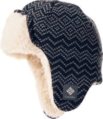 Guns and Military Perfect for snowdrift adventures, this classic earflap hat has been updated with Omni-Heat thermally reflective technology. Its shell is crafted of super-fine acrylic yarn to deflect the cold and seal in the warmth. Underneath, 60-grams polyester insulation maximizes heat retention. 100% polyester Sherpa lining offers a soft, warm and gentle feel against the skin. Imported. Sizes: S/M, L/XL. Colors: Black, Collegiate Navy, Black/Afterglow. - $19.88