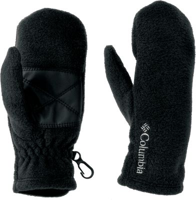 Guns and Military A quick, go-to set of mittens for your toddler 250-gram fleece keeps little fingers warm and cozy while elastic at the wrists helps them tuck into sleeves and keep the wind and cold out. Faux-leather palms give them some texture for a little grip. Security clips on the outside edge of each mitten secure them together and can also be clipped on to a zipper when not in use. 100% polyester. One size fits most. Imported. Colors: Black, Collegiate Navy, Light Grape, Afterglow. - $11.88